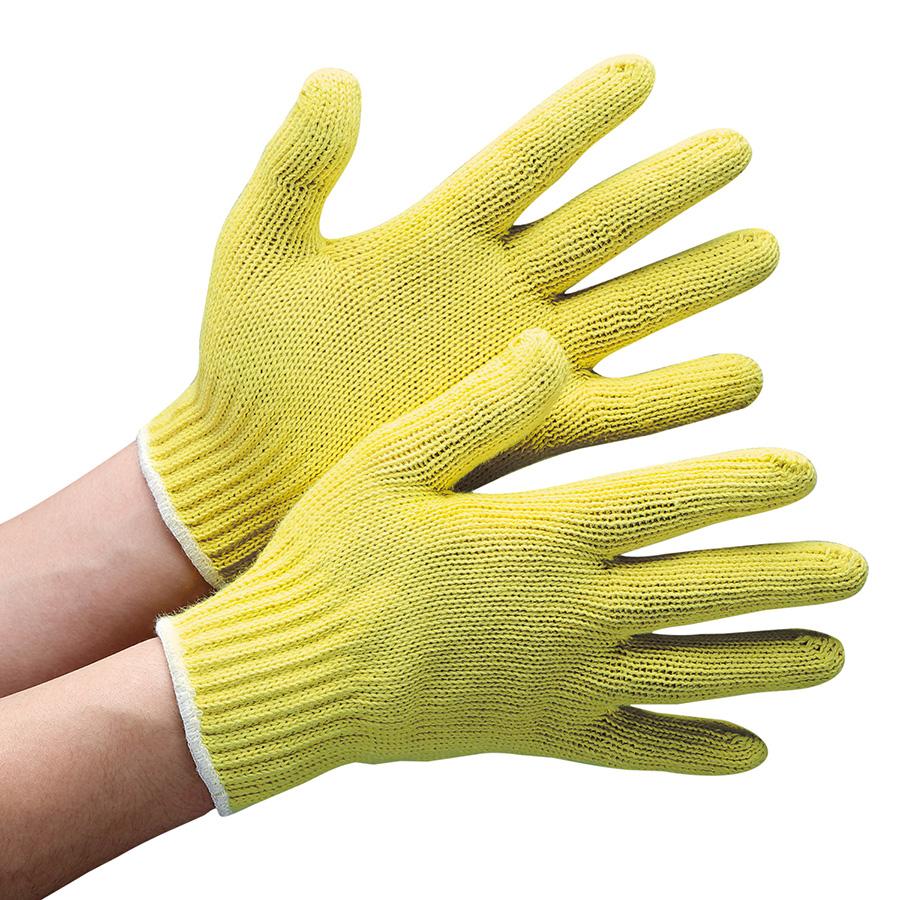 耐切創性手袋 イエローガード C072 フリー 10双/袋 (販売単位:10袋)