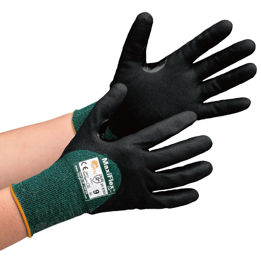 ATG 耐切創性精密作業手袋 MaxiFlex Cut 34−8753 M