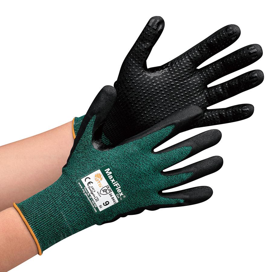 ATG 耐切創性精密作業手袋 MaxiFlex Cut 34−8443 M