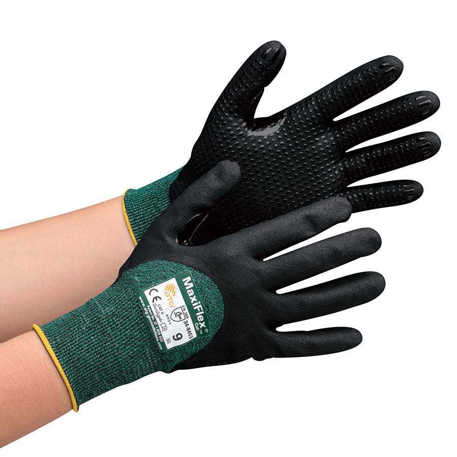 ATG 耐切創性精密作業手袋 MaxiFlex Cut 34−8453 XL