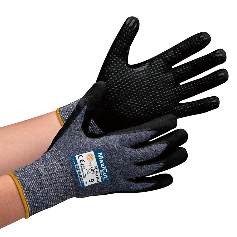 ATG 耐切創性グリップ強化手袋MaxiCutUltraDT 44−3445 M