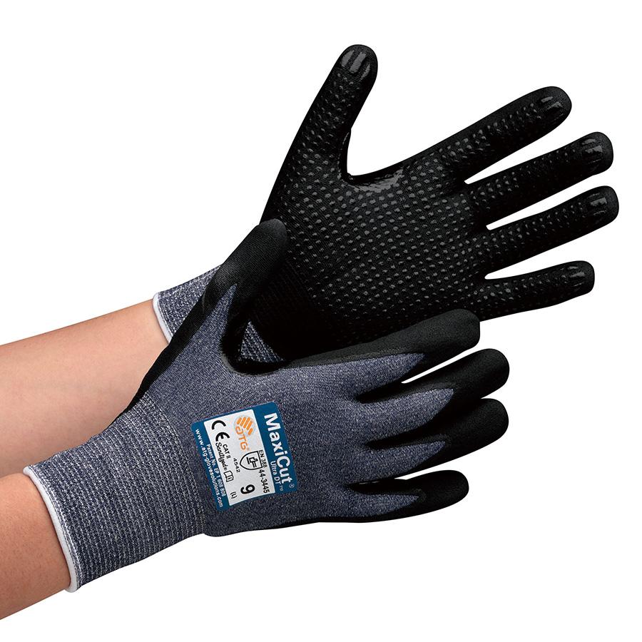 ATG 耐切創性グリップ強化手袋MaxiCutUltraDT 44−3445 L