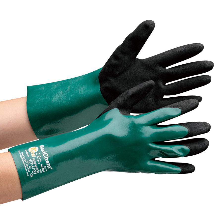 ATG 耐薬品耐切創性作業手袋 MaxiChem Cut 56−633 XL