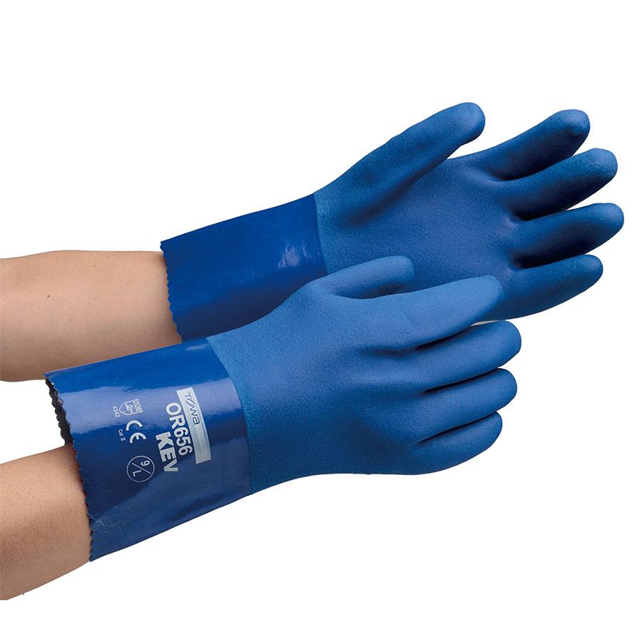 耐切創性手袋 耐油ケブラー OR656 9/L(LL)サイズ