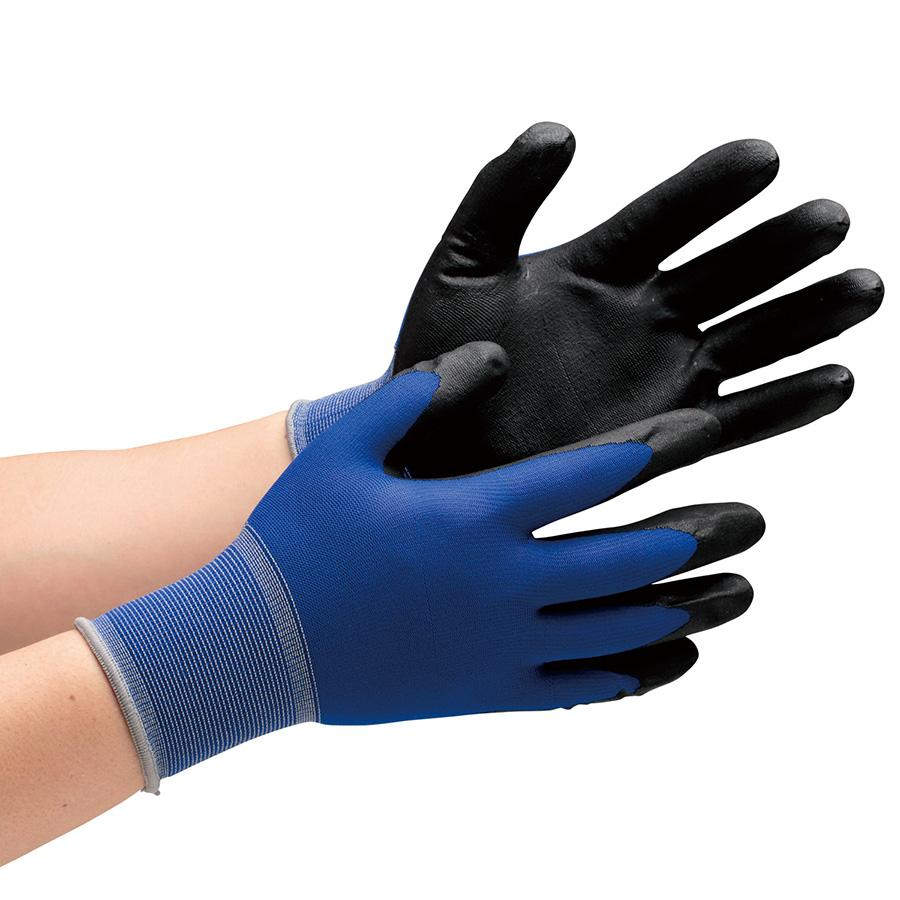 作業手袋 ハイグリップ ニトリル背抜き手袋 MHG−150N L 10双/袋