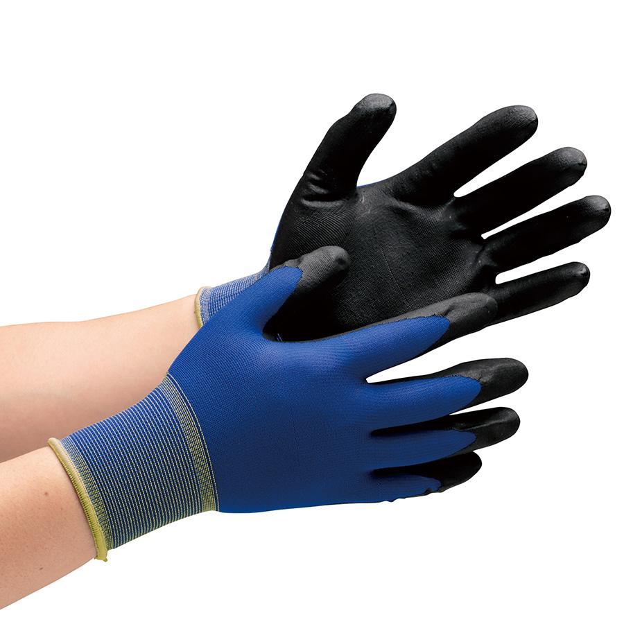 作業手袋 ハイグリップ ニトリル背抜き手袋 MHG−150N LL 10双/袋