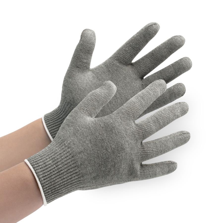 接触感染予防手袋 MS132 暖かタイプ グレー L