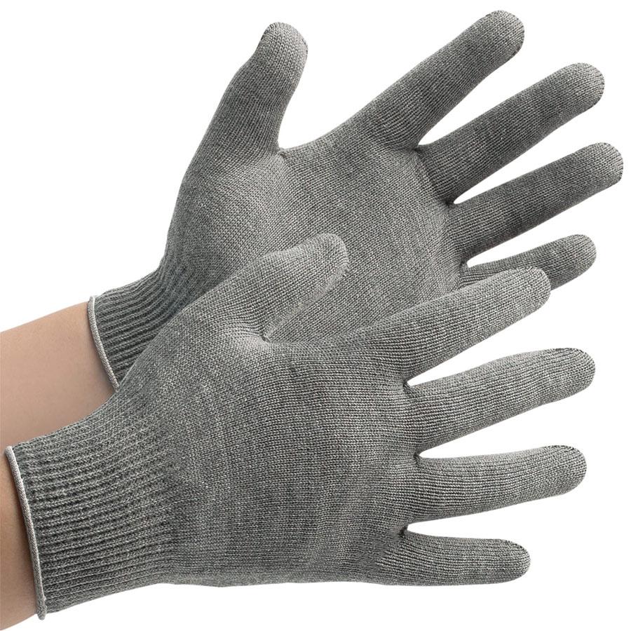 接触感染予防手袋 MS132 グレー L