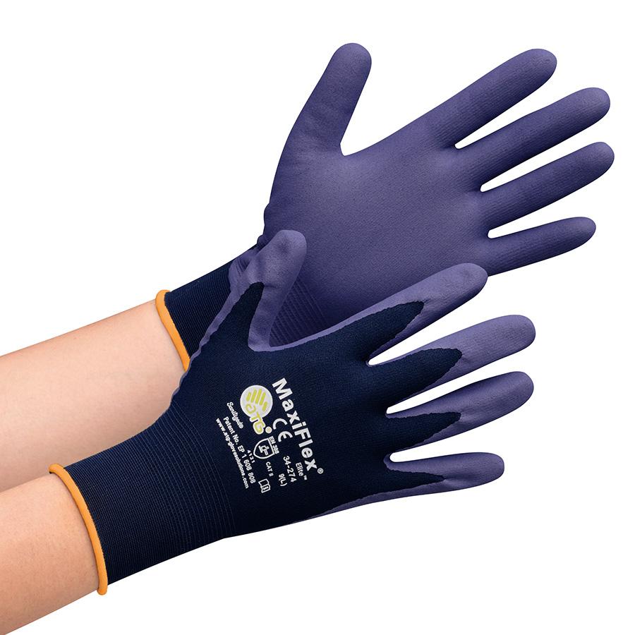 ATG 最薄精密作業手袋 MaxiFlex Elite 34−274 M