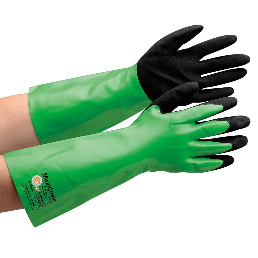 ATG 耐薬品作業手袋 MaxiChem 56−635 XL