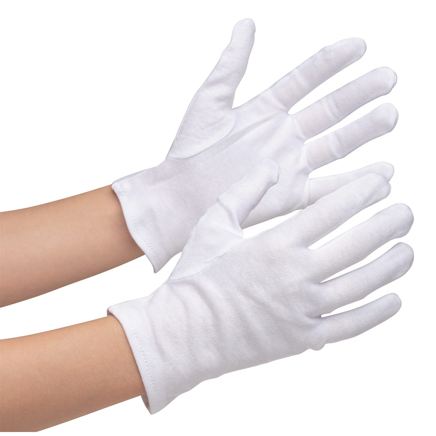 品質管理用手袋 綿スムス マチなし M 12双