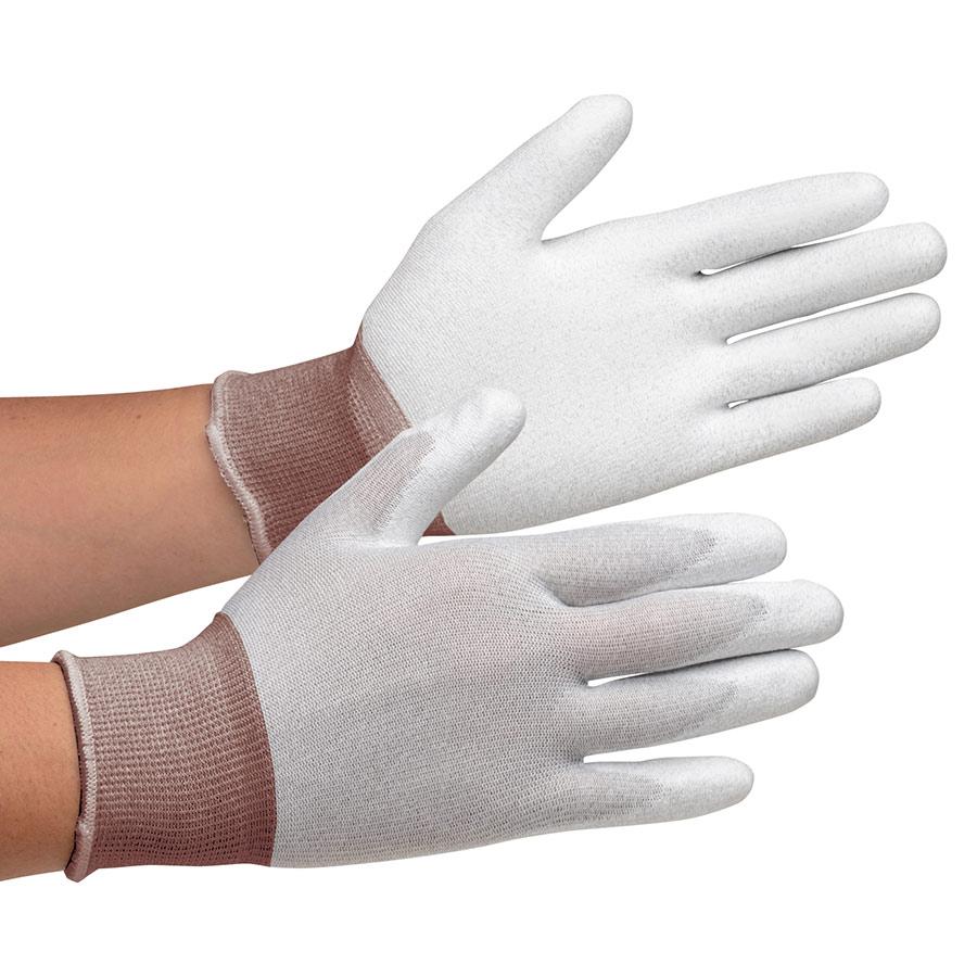 静電気拡散性手袋 MCG−800 (手のひらコーティング) SS 10双/袋