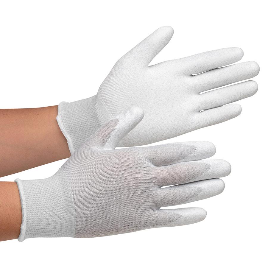 静電気拡散性手袋 MCG−800 (手のひらコーティング) S 10双/袋