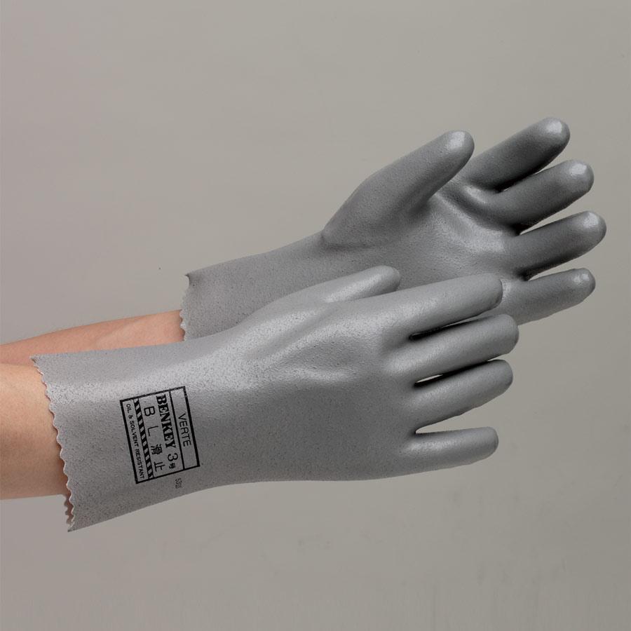 ポリウレタン製手袋 ベンケイ3号B すべり止め付 L