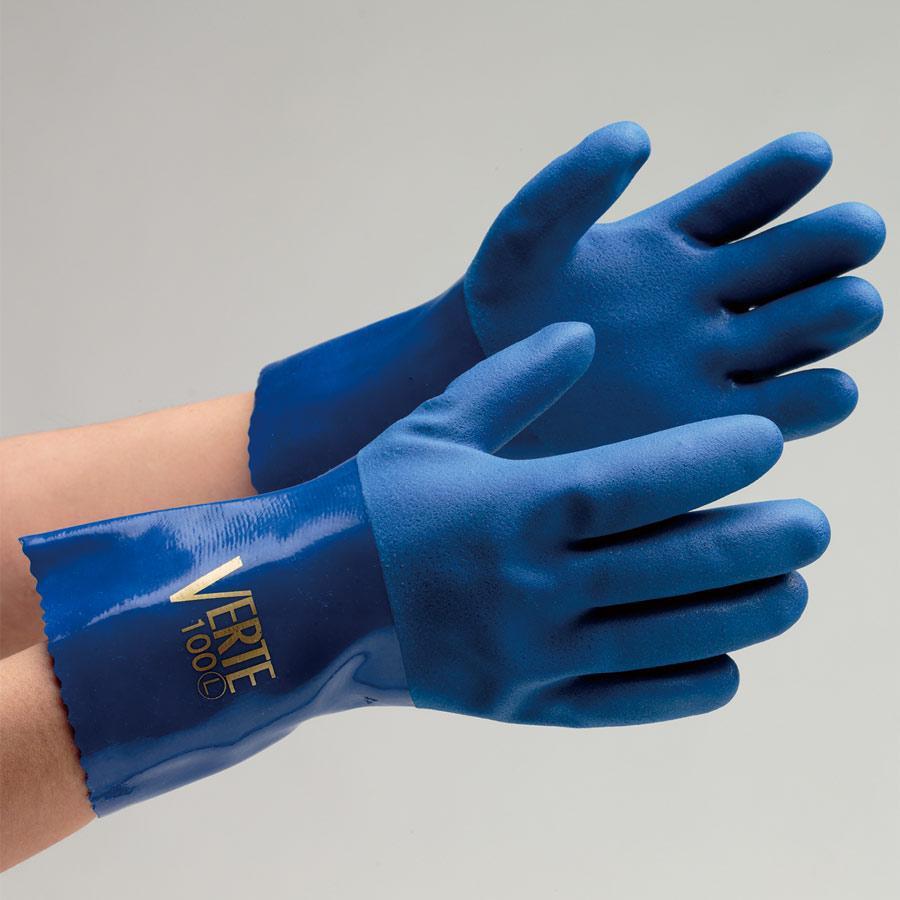 塩化ビニール製手袋 ベルテ−100 L 10双