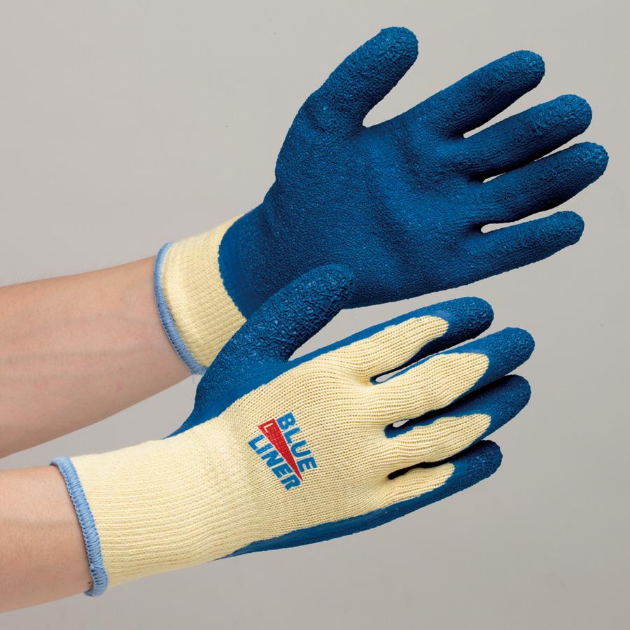 ゴム張手袋 NO.300 ブルーライナー M 10双入