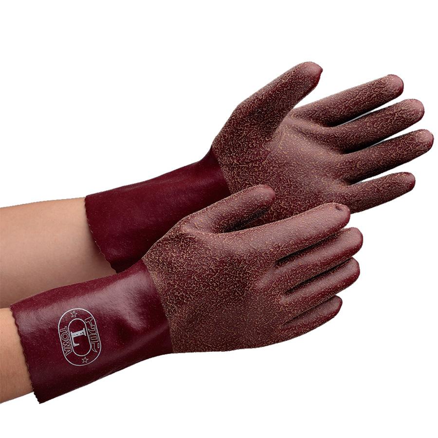天然ゴム手袋 NO.152 トワロンロング L 10双/袋