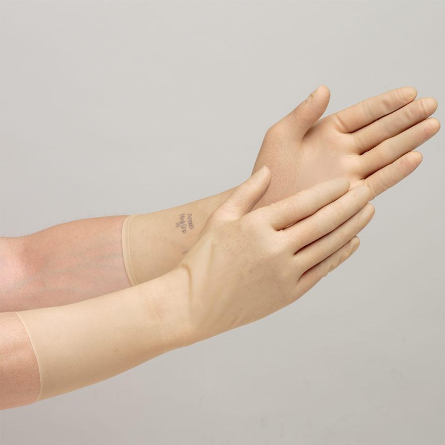 天然ゴム製手袋 メディグリップ14 6.5インチ 40双入/1箱 販売単位:6箱