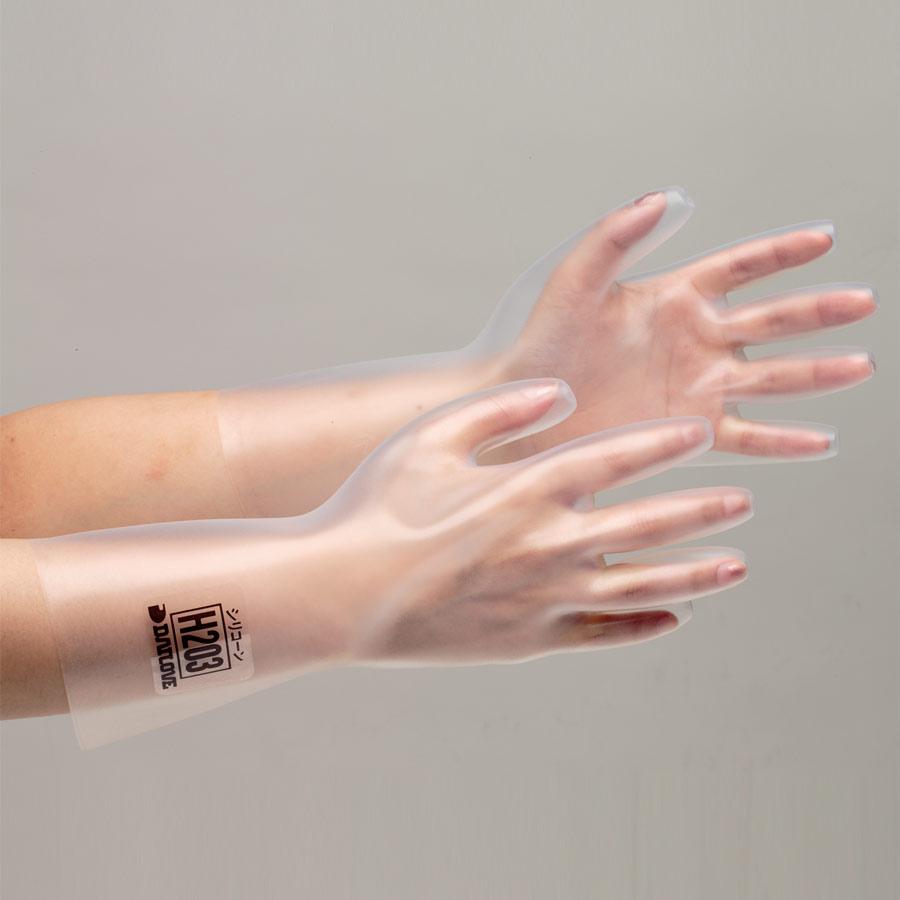 シリコーン製手袋 H−203 厚手 S