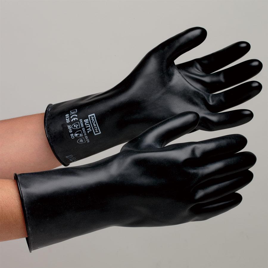 ブチルゴム製手袋 ブチルB−131 8インチ