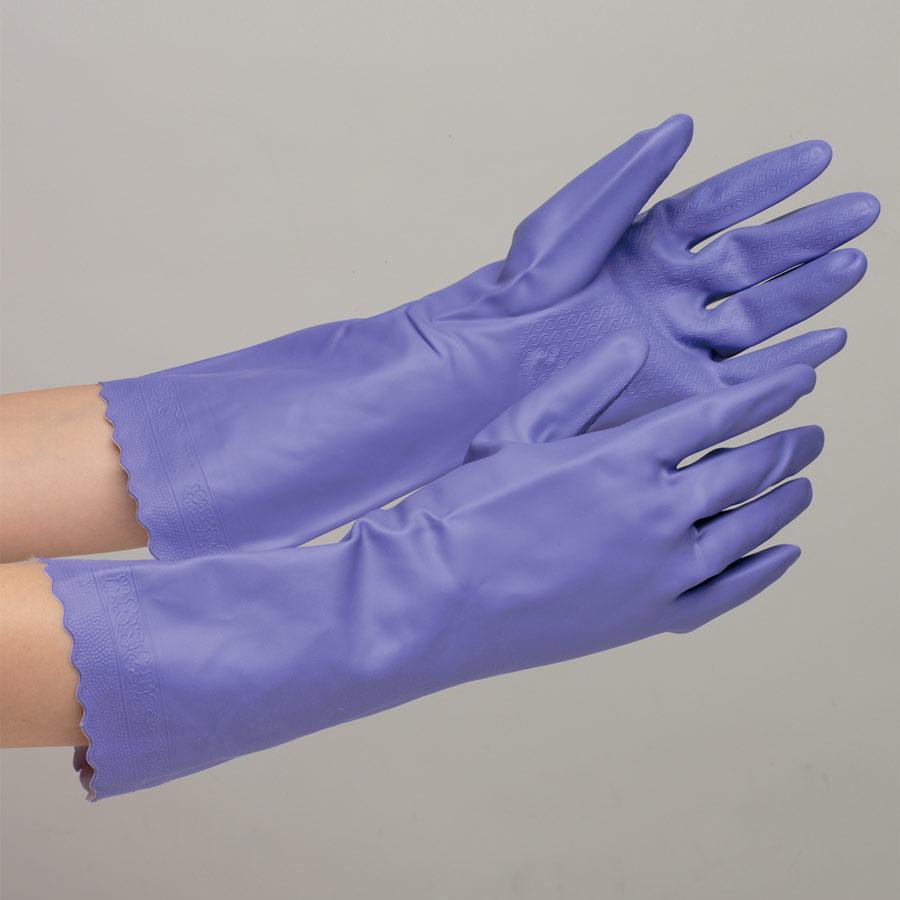 塩化ビニール製手袋 NO.100 NP厚手 紫 S 120双(10双×12袋)