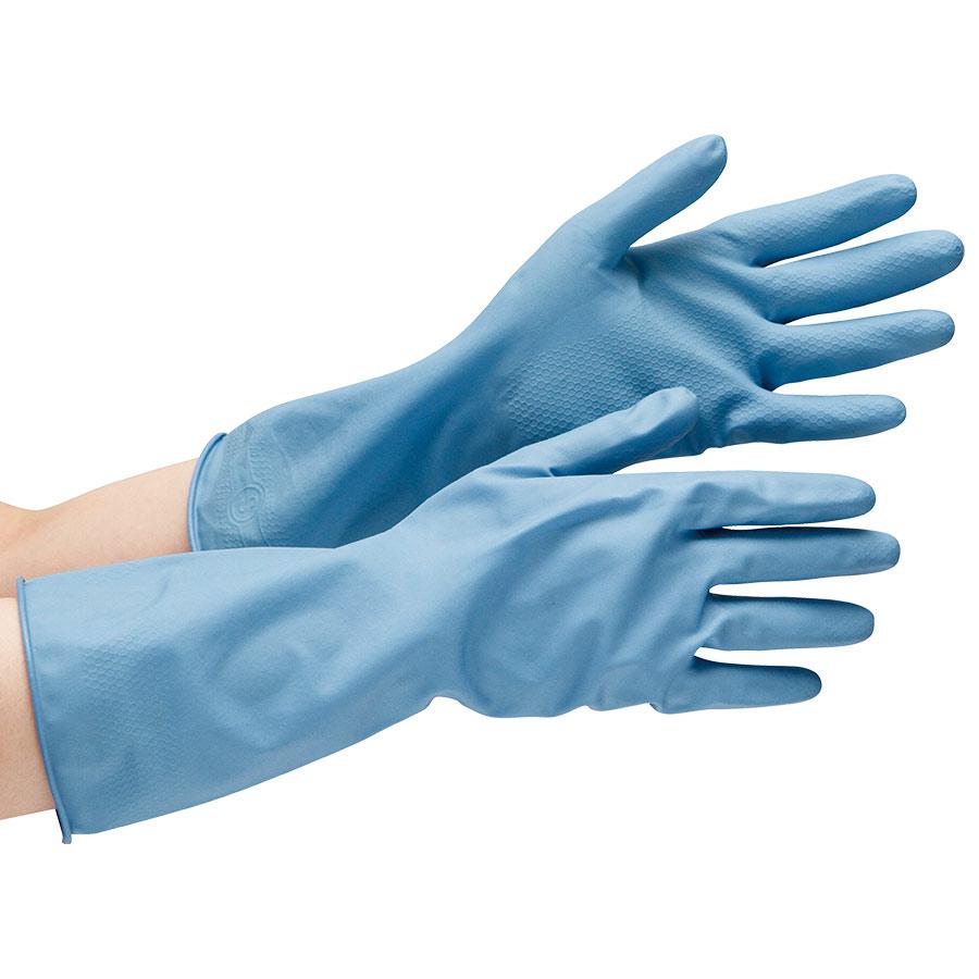 ニトリル炊事用手袋 ベルテ270 ブルー L 10双
