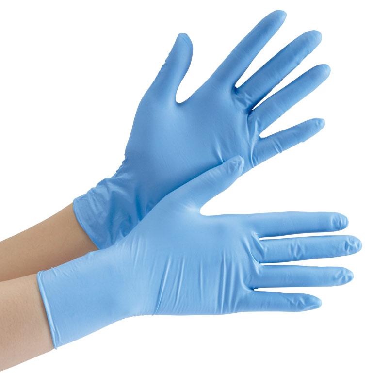ニトリル手袋 ベルテ 750K (レギュラー) 粉なし ブルー XL 100枚