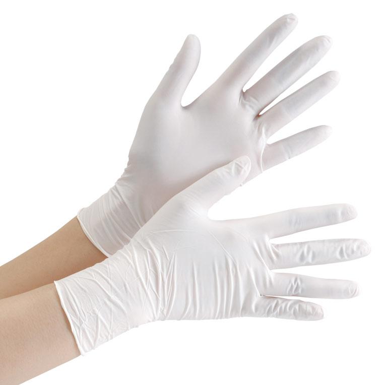 ニトリル手袋 ベルテ 753K (レギュラー) 粉付き ホワイト XL 100枚