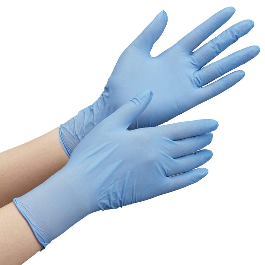 ニトリルゴム製手袋 VERTE−790 ブルー M 100枚入り