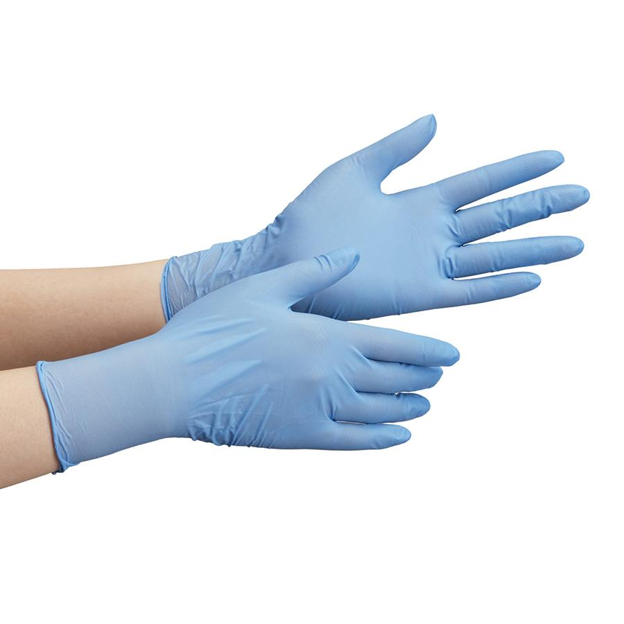 ニトリルゴム製手袋 VERTE−792 ブルー L 100枚入り