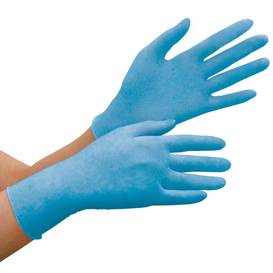 ニトリル手袋 ベルテ 782N (薄手) 粉付き ブルー S 100枚入