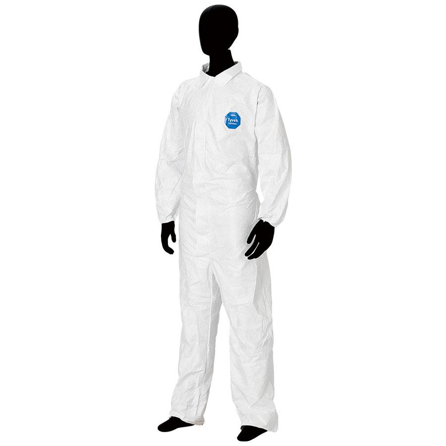 防護服 デュポン(TM) タイベック(R) ソフトウェア �T型衿付 S