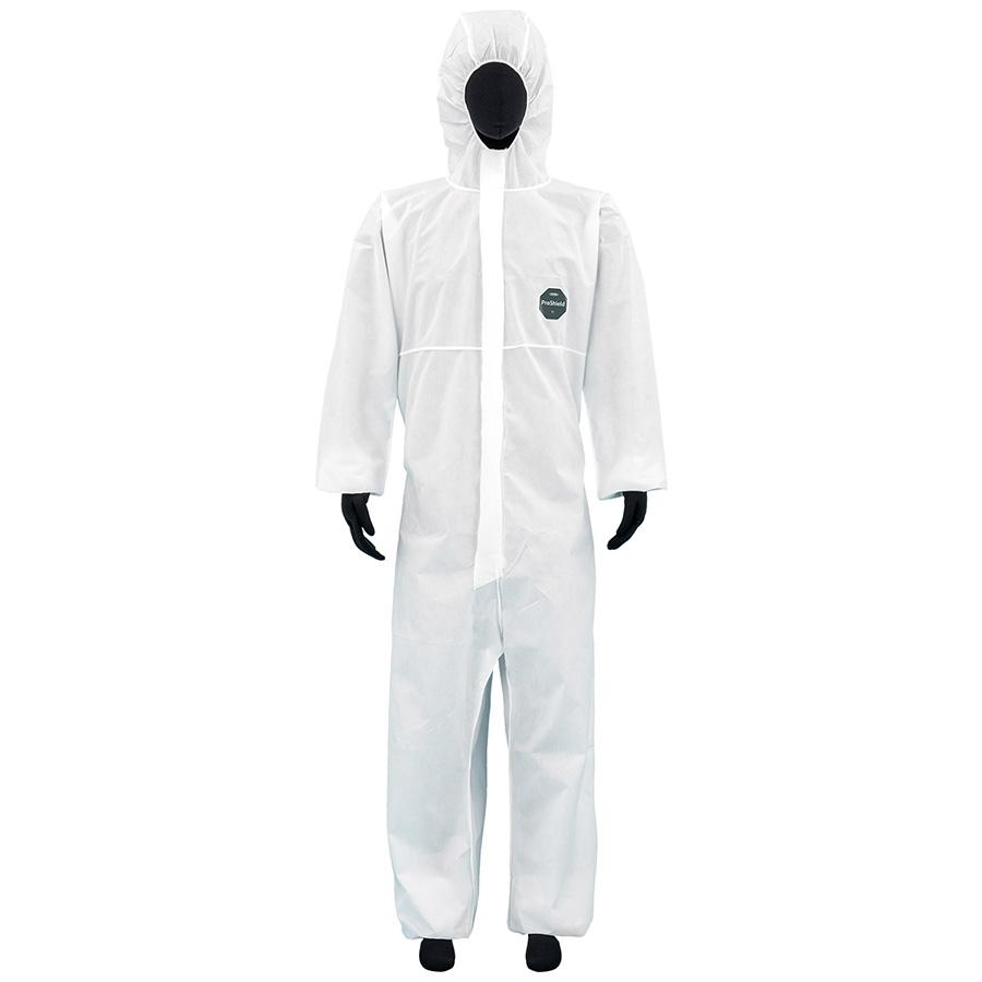 SMS不織布製 防護服 デュポン プロシールド10W ホワイト S