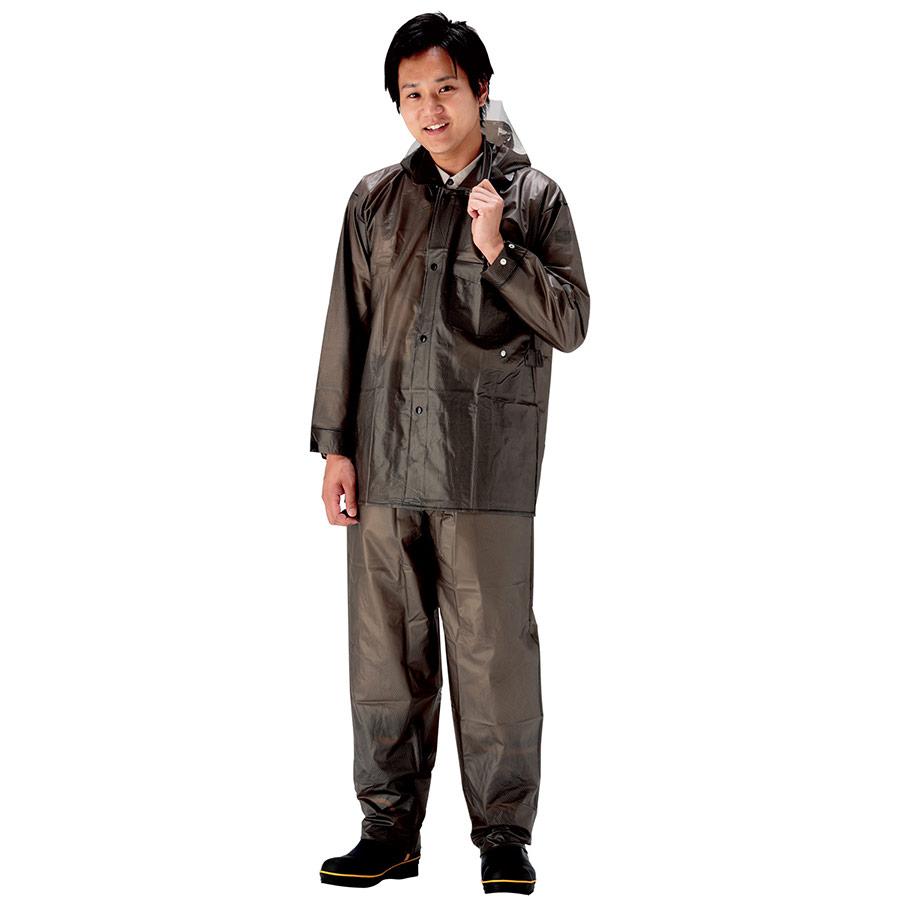 雨衣 ウェーブロック 安全コート ガンメタル M