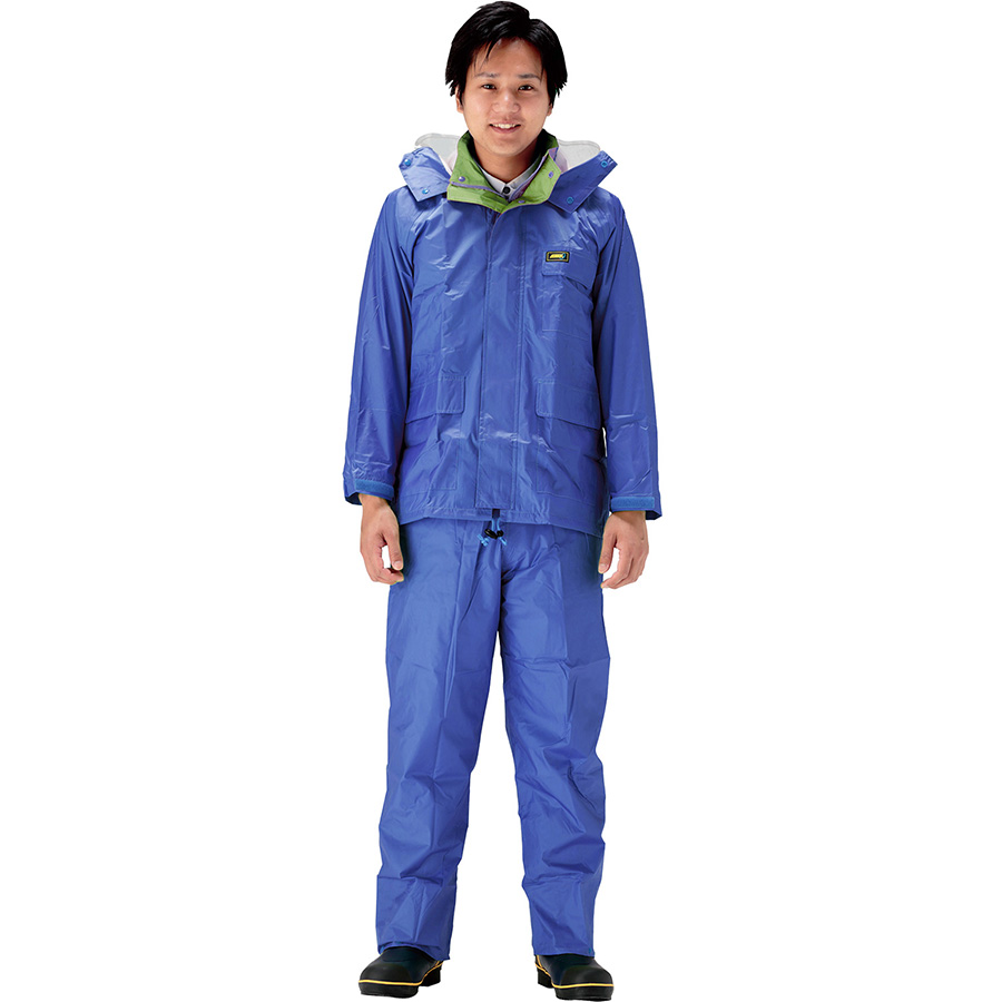 雨衣 透湿 MOA シータレインスーツ A−660 ブルー 5L