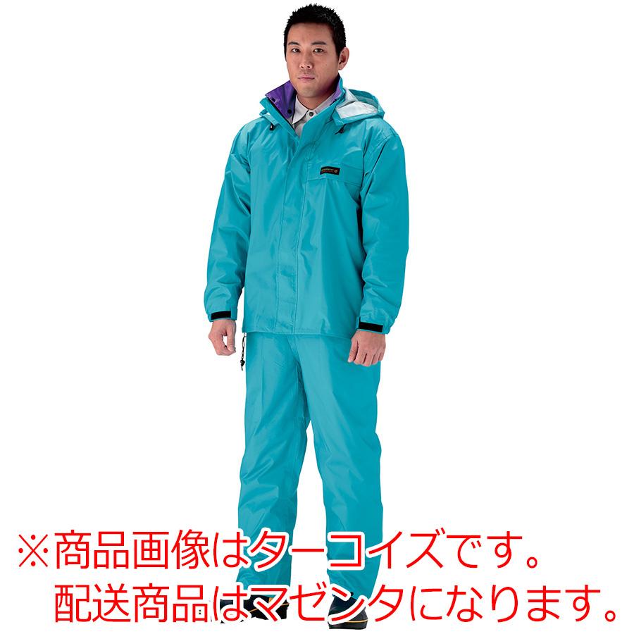 雨衣 オールマインドスーツ #3250 マゼンタ 4L