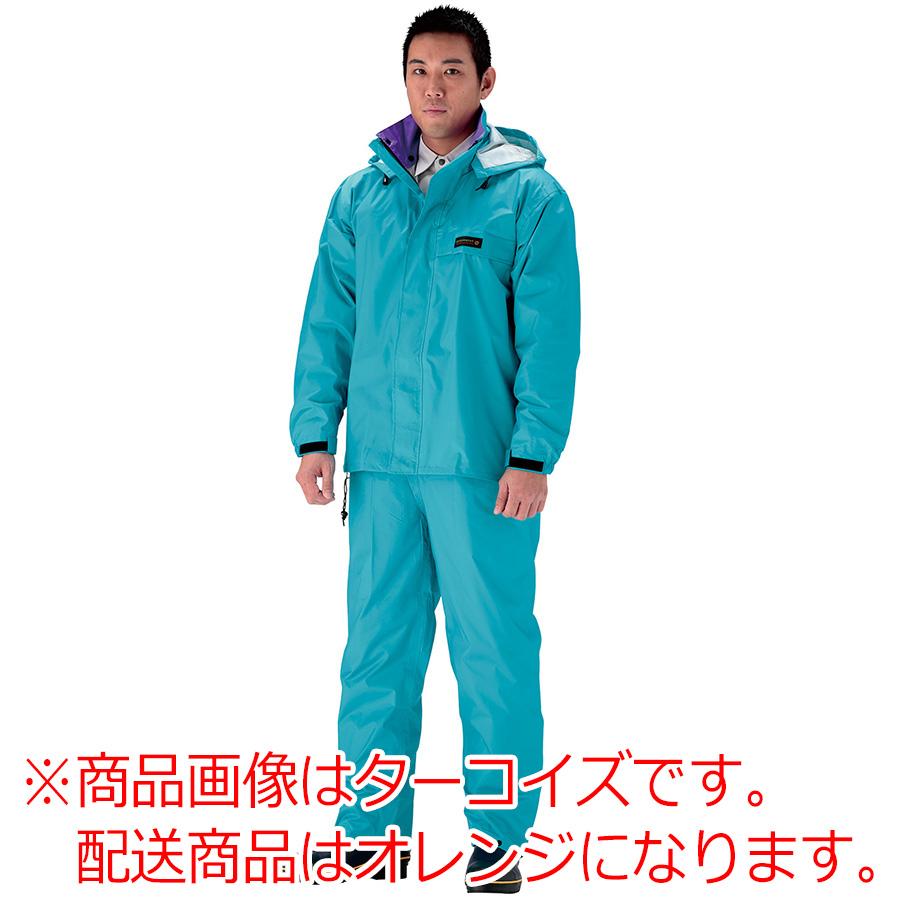 雨衣 オールマインドスーツ #3250 オレンジ 3L