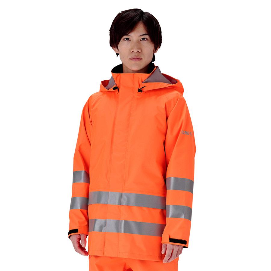 レインベルデN(R) ゴアテックス(R) 高視認仕様 上衣 蛍光オレンジ 3L