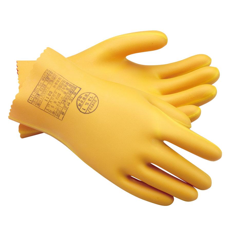 耐電ゴム手袋 低圧二層手袋 Aタイプ 特大