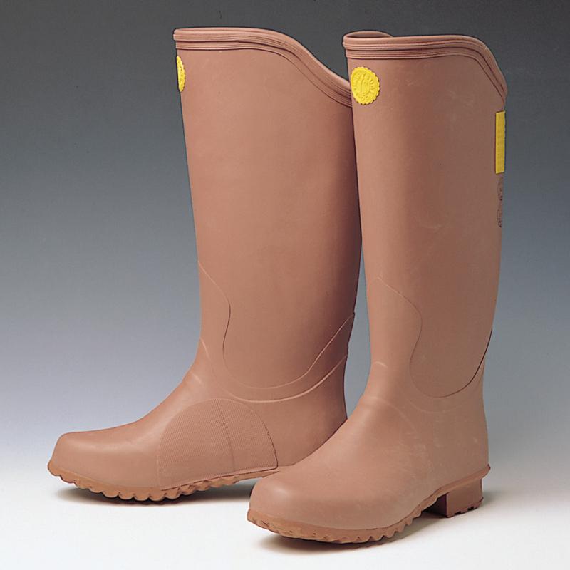 電気用ゴム長靴 (赤茶色) YS-111-14-06 26.0cm ...