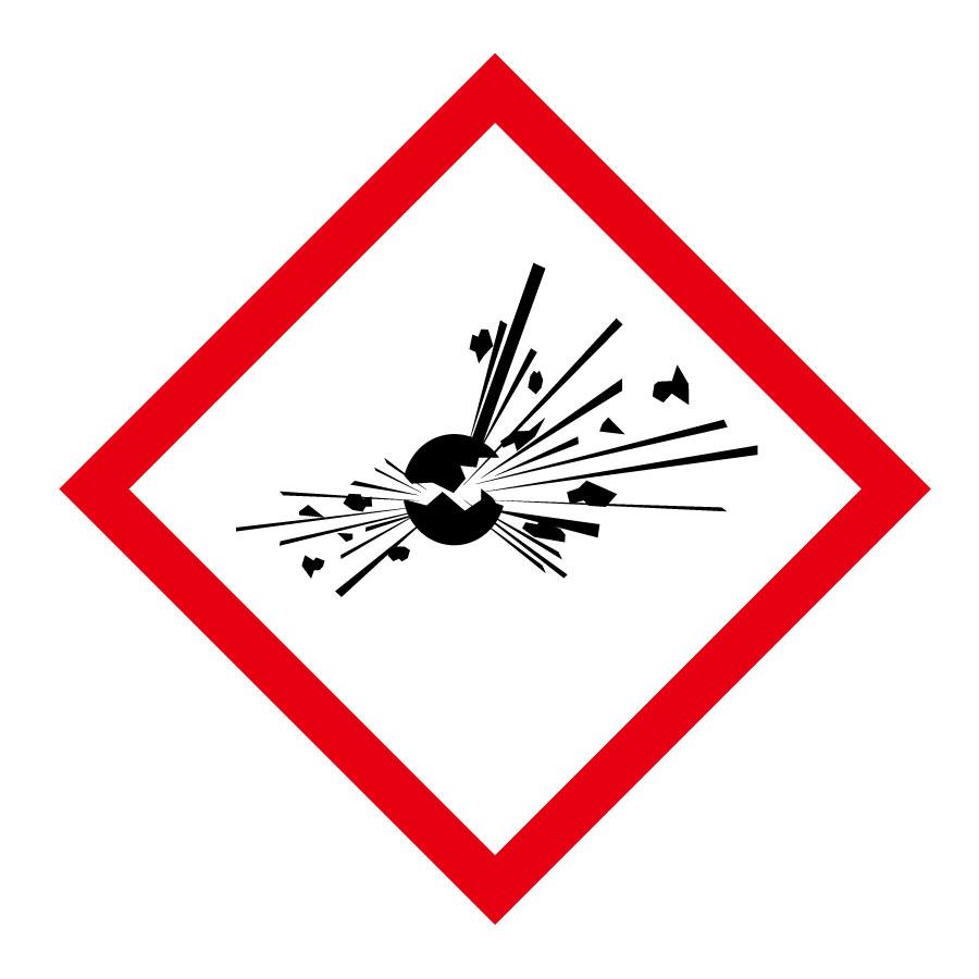 化学物質関係標識板 GHS−3(大) 爆弾の爆発 5枚1組 037103