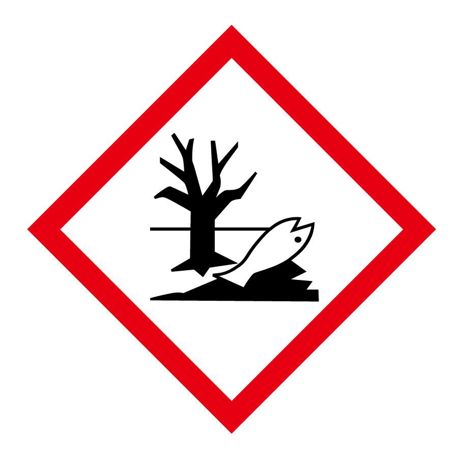 化学物質関係標識板 GHS−8(大) 環境 5枚1組 037108