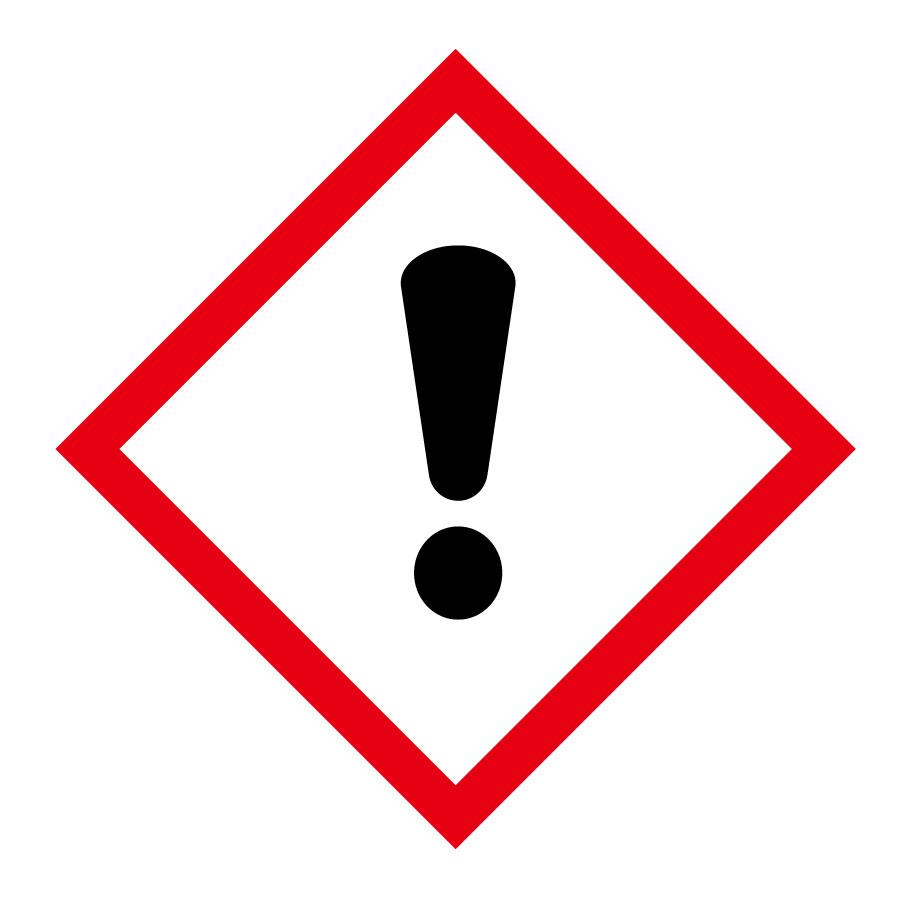 化学物質関係標識板 GHS−7(中) 感嘆符 5枚1組 037207
