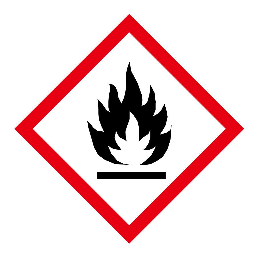 化学物質関係標識板 GHS−1(小) 炎 5枚1組 037301
