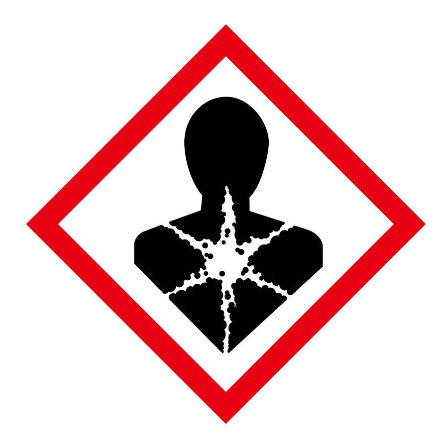 化学物質関係標識板 GHS−9(小) 健康有害性 5枚1組 037309
