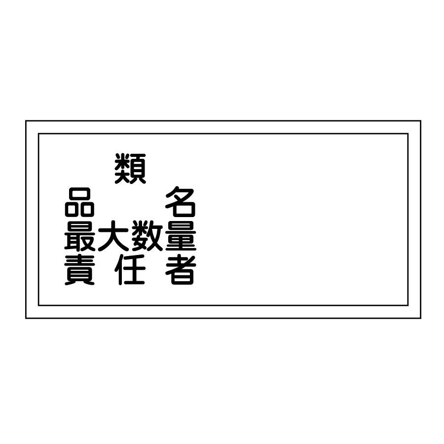 危険物標識 KHY−39R 類 品名 054039