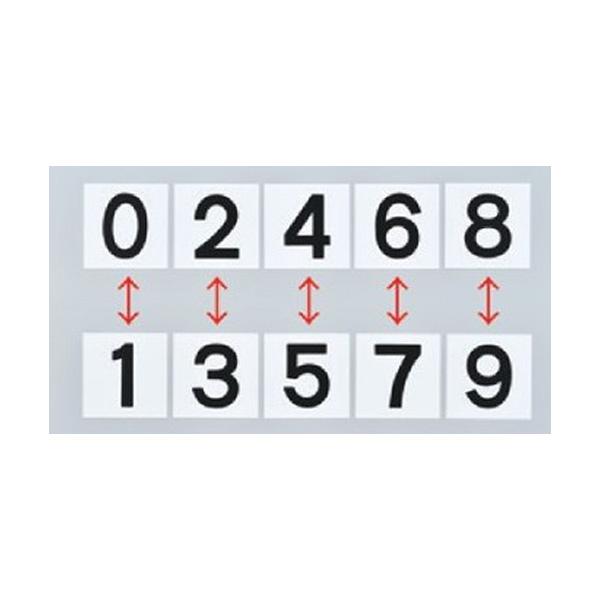 スチールケース KS−A札2 黒 0〜9 228013