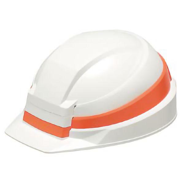防災用ヘルメット IZANO 白/オレンジライン 380225
