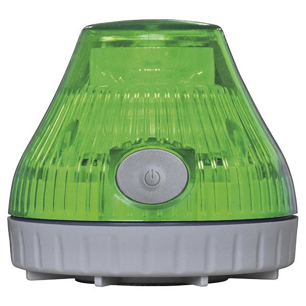 携帯型充電式 LED回転灯 緑 380227