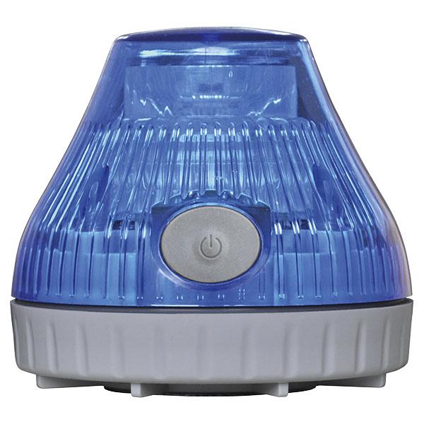 携帯型充電式 LED回転灯 青 380230